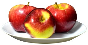 Apples on Plate PNG