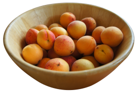 Apricots in Bowl PNG