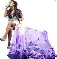 Ariana Grande singing on stage PNG