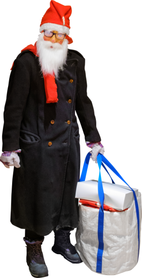 As Improvised Jultomten Aka Santa Claus PNG