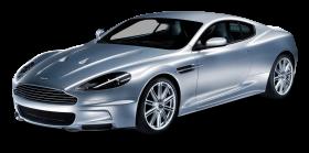 Aston Martin DBS Silver Car PNG
