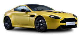 Aston Martin V12 Vantage S Yellow Car PNG