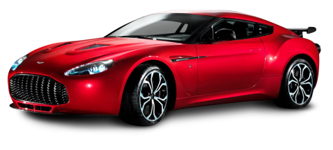 Aston Martin V12 Zagato Red Sports PNG