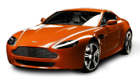 Aston Martin V8 Vantage N400 Orange Car PNG