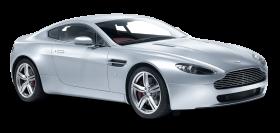 Aston Martin V8 Vantage White Car PNG