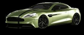 Aston Martin Vanquish Green Car PNG