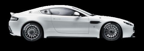 Aston Martin Vantage GT4 White PNG