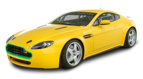 Aston Martin Vantage N24 Yellow Car PNG