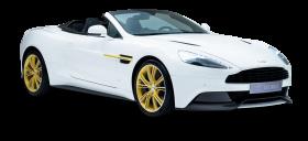 Aston Martin White Car PNG