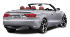Audi A5 CABRIO Grey Back View Car PNG