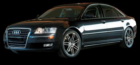Audi A8 Black Car PNG