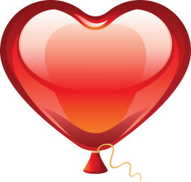 Valentine Heart Balloon PNG