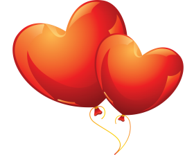 Love Heart Balloons PNG