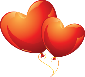 Heart Shaped Love Balloons PNG