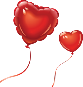 Heart Shaped Valentine Ballons PNG