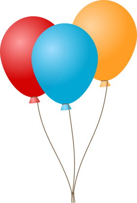Colorful Celebration Balloons PNG