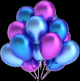 Violet Blue Balloons PNG