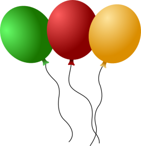 Party Ballons Multicolored PNG