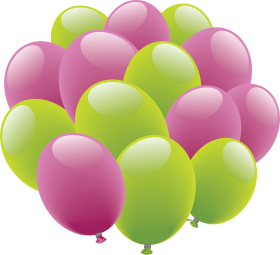 Pink Green Ballons PNG