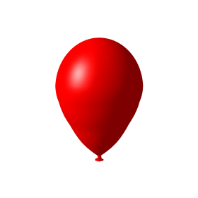 Red Balloon Decorative PNG