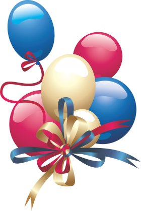 Festive Birthday Balloons PNG