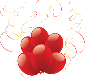 Lovely Heart Balloons PNG