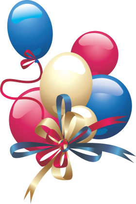 Party Festive Balloons PNG