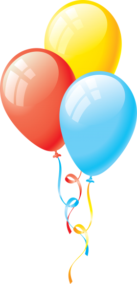 Celebrative Birthday Balloons PNG