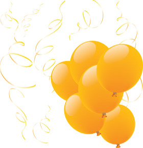Many Yellow Balloons  PNG