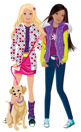 Barbie And Friend PNG