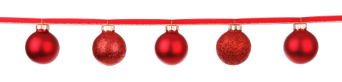 Christmas Bauble String PNG