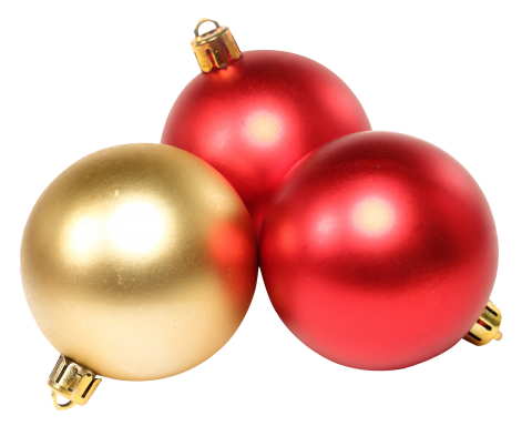 Tree Traditional Christmas Baubles  PNG