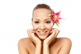 Beautiful Girl With Flower PNG