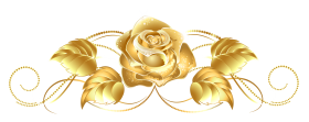 Beautiful Gold Rose Decor PNG
