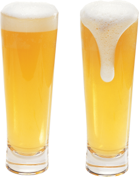 Beer in glass PNG
