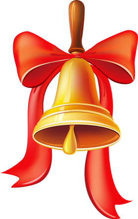 Christmas Bell with Big Ribbons PNG