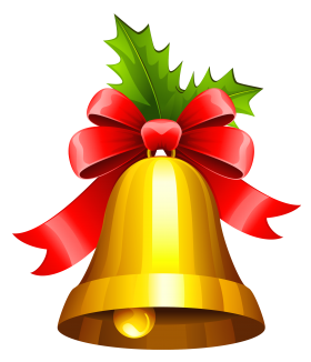 Traditional Christmas Bell PNG