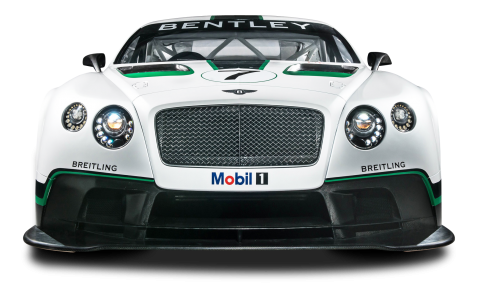 Bentley Continental GT3 R Car Front View PNG
