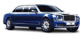 Bentley Mulsanne Grand Limousine Blue Car PNG