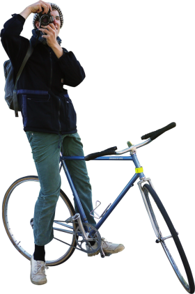 Biking Photograpfer PNG