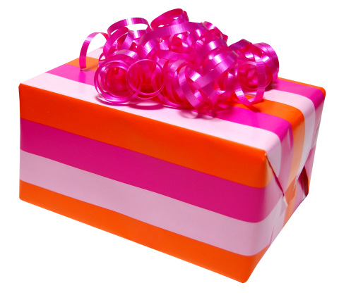 Pink Present Box PNG