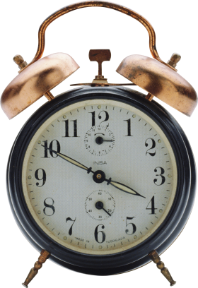 Black Alarm Clock PNG