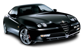 Black Alfa Romeo GTV Car PNG