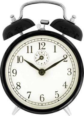 Black Alram Clock PNG