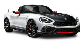 Black and White Fiat 124 Spider Abarth Car PNG