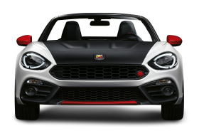 Black and White Fiat 124 Spider Abarth View Car PNG
