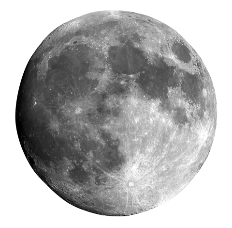 Black and white Moon PNG