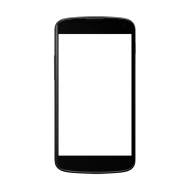 Black Android Smartphone Clipart PNG
