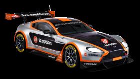 Black Aston Martin Racing Car PNG