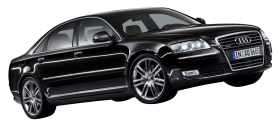 Black Audi A8 Car PNG
